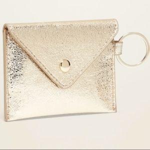 Accessories - Gold Metallic Envelope Card Holder